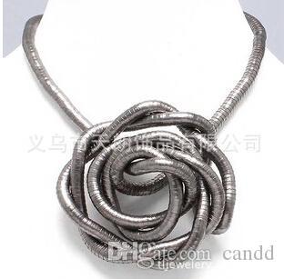 Goedkoopste Koop veel Get One Free900 * 8mm Flexibele Buigbare Twisty Snake NecklaceBracelet Roestvrij
