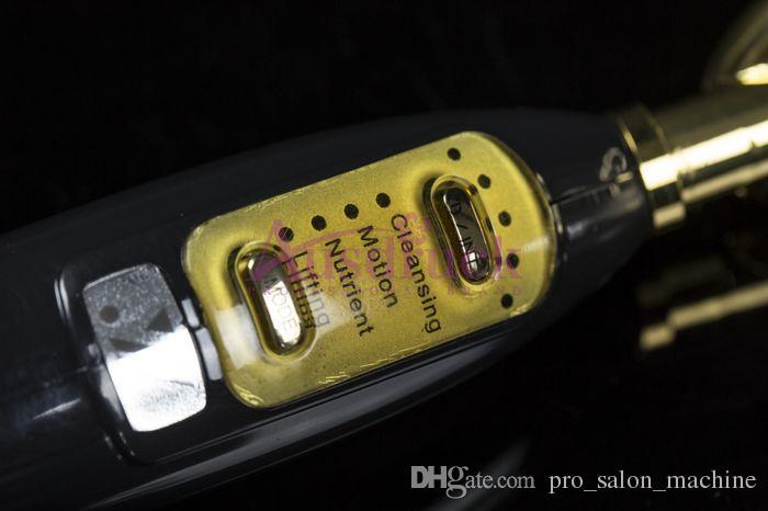 미니 가정용 Microcurrent 페이셜 리프트 갈바닉 바이오 스킨 리프팅 이온 마사지기 페이스 케어 안티 링클러 청소 Golden Spoon