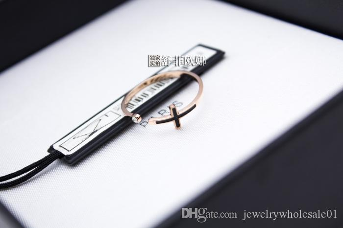 new opening female south Korean act as purchasing agency quality goods cross the finger rings personality rose gold rings