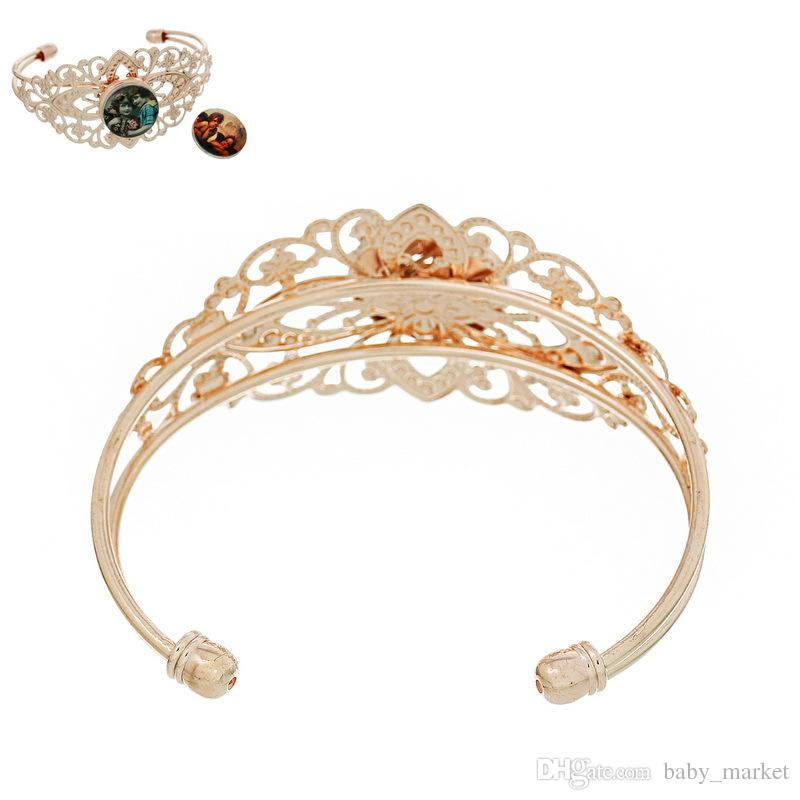 SALE! 925 sterling silver Fashion jewelry Bracelets Round rose gold Fit noosa Snaps Buttons Flower Pattern Hollow Ginger Snaps