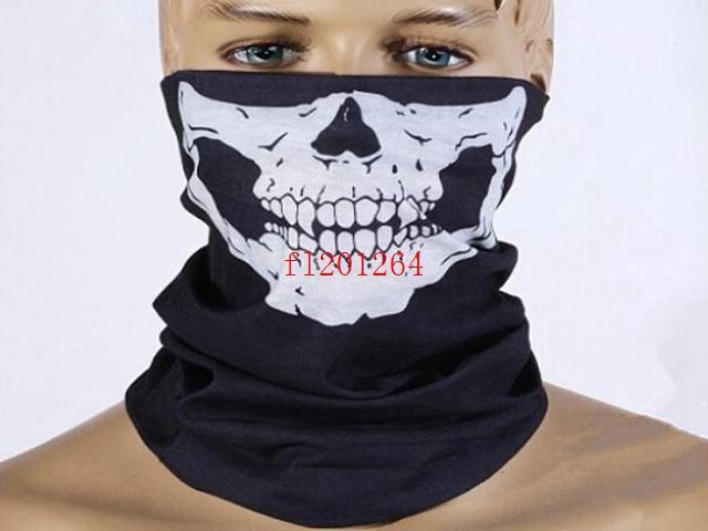 Frete Grátis Moda Crânio Design Multi Função Bandana Motociclista Máscara Facial Pescoço Tubo Tubo, 100 pçs / lote