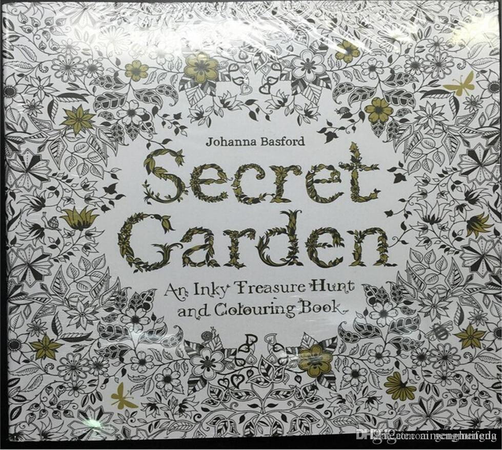 200 Set Sell Secret Garden An Inky Treasure Hunt And Coloring Book Adult Children Relax Graffiti Painting English Version 2015 New
