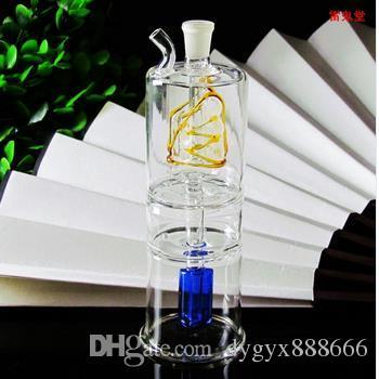Clássico de duas camadas de cor do filtro de vidro pote, cores, estilos são de entrega aleatória, por atacado de vidro hookah, frete grátis, grande melhor