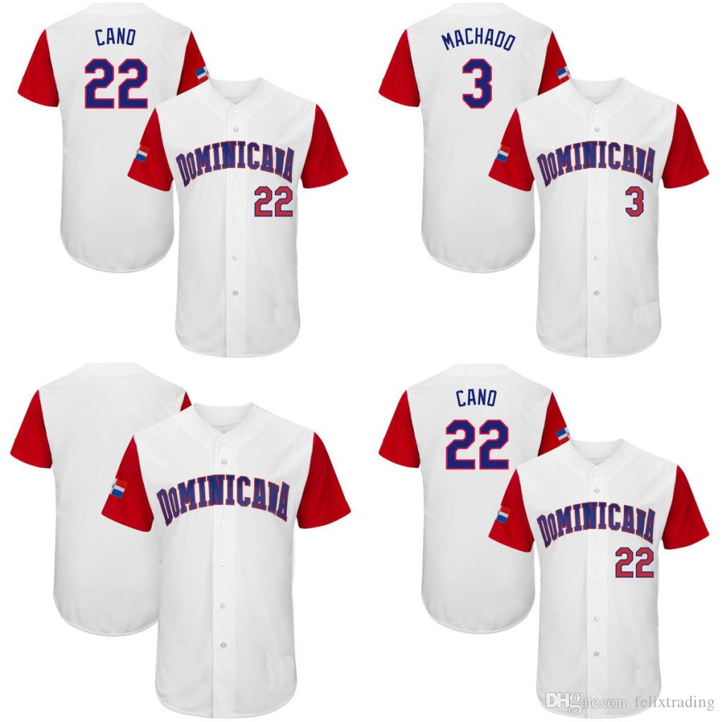84590b45c ... 2017 2017 World Baseball Classic Jersey 3 Manny Machado 22 Robinson  Cano Stitched Dominican Republic Baseball ...