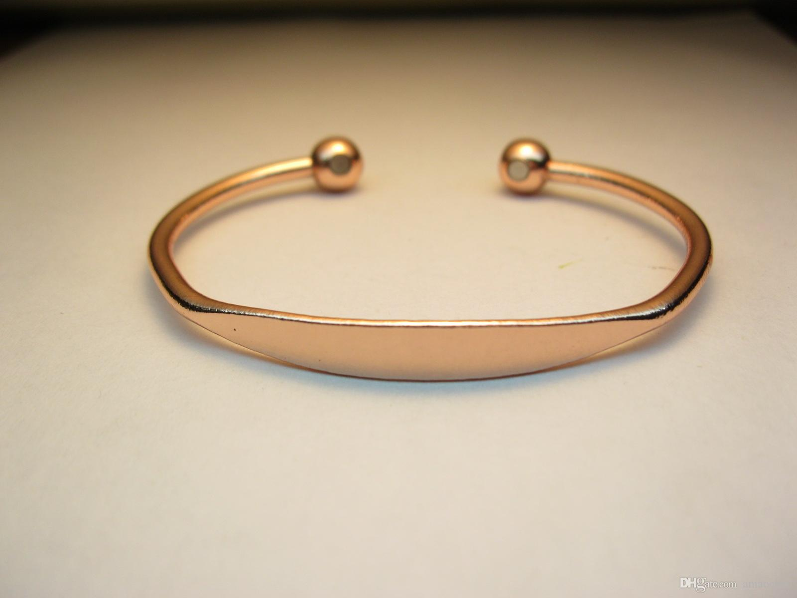 Rose Gold Plated Alloy Pure Copper Bangle Bracelet Fashion Man