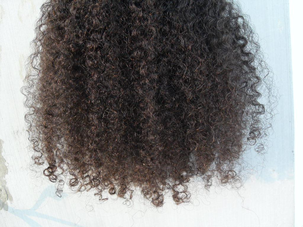 New Arrive Brazilian Human Curly Hair Weft Clip In Human Hair Extensions Unprocessed Natural Black/ Brown Color Afro Kinky Curl
