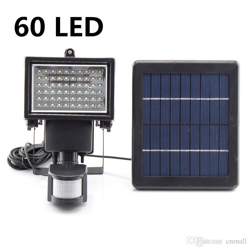 Grosshandel 60 Led Solarflutlicht Ptr Bewegungs Sensor Lampen Outdoor