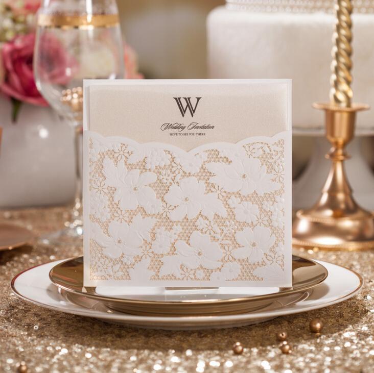Vintage Design Wedding Invitations Personalized Customized Laser