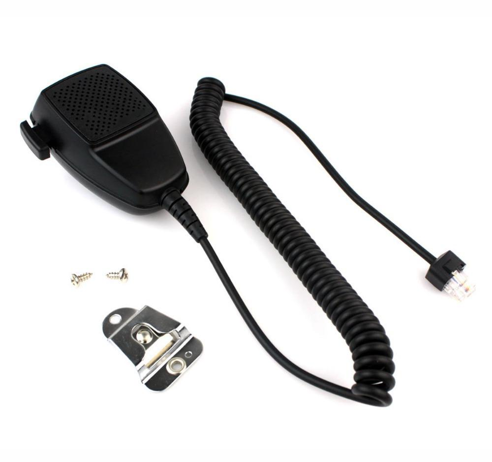 New Black 8 Pin Handheld Shoulder PTT Speaker MIC For Motorola Radio GM300  GM350 GM338 GR400 Car Radio J0167A Alishow
