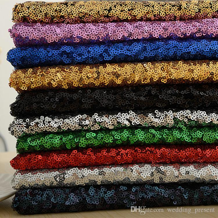 Sparkly 3mm Sequin Fabric For Wedding Prom Evening Dresses Party Gown Skirt Bridal Table Cloth Embroidery Arabic Sequined Fabric - 1 Meter
