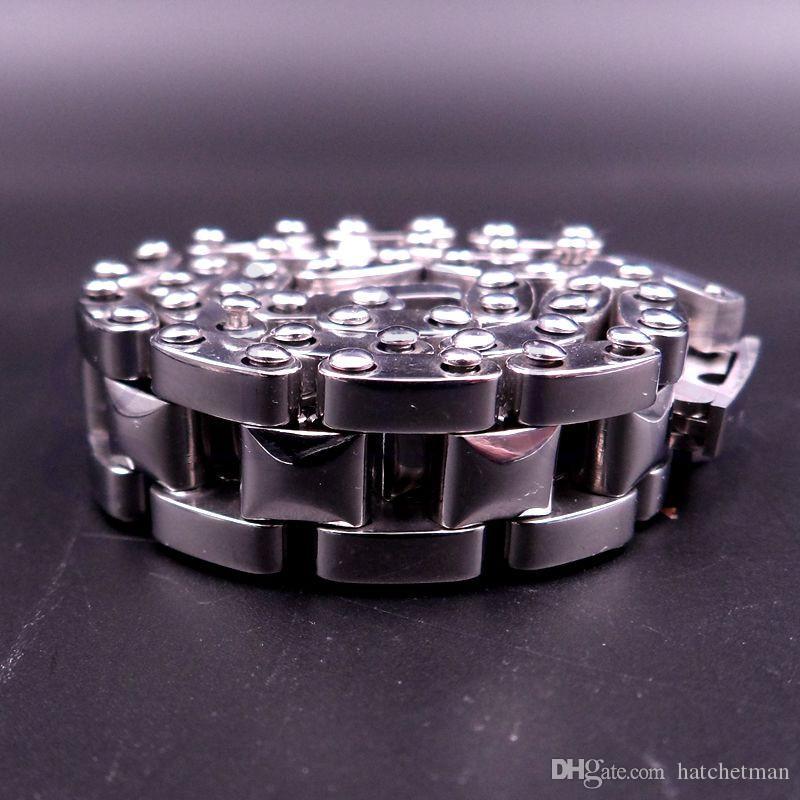 Heren Cool Silver Bracelet Rvs Bangle Horloge Ketting Sieraden