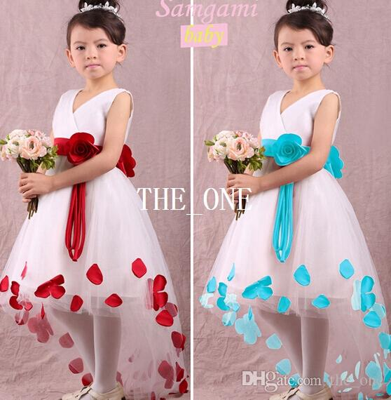 2018 Girl Flower Dress Ball Gown Frozen Dress Flowers Kids Lace