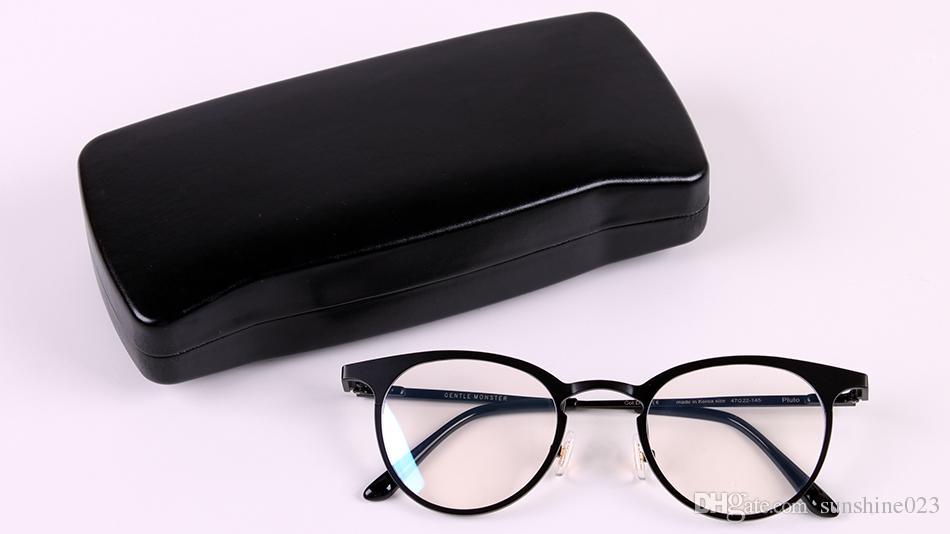 2017 Dadapro Marca Gentle Uomo Donna V logo Plulo Lente trasparente Computer Gaming Occhiali GM Montature occhiali oculos