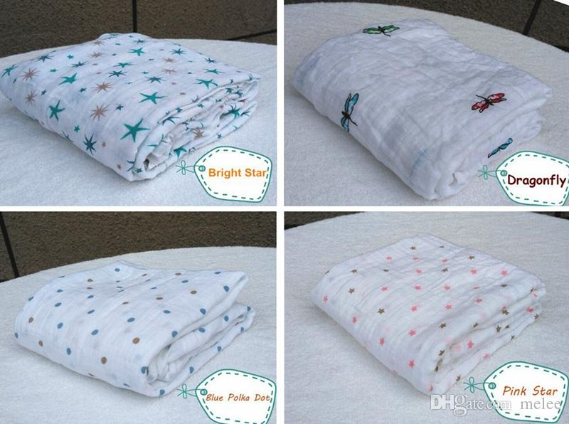 Venda quente Aden Anais Quilts Para Bebês Recém-nascidos Suprimentos 100% Algodão Cobertor Envoltório Do Bebê De Algodão Cobertor Infantil Envoltório Do Bebê Macio