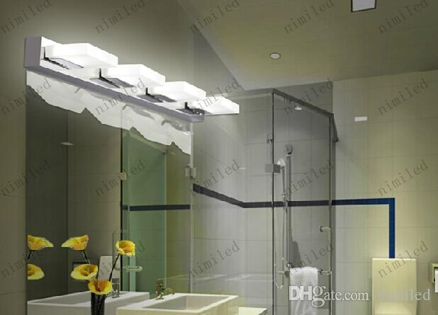 nimi514 3/4/5-Lights Modern Stainless Steel LED Mirror Lamp Water Proof Anti-fog Toilet Bathroom Vanity Mirror Light Lighting 3/4/5-Lights