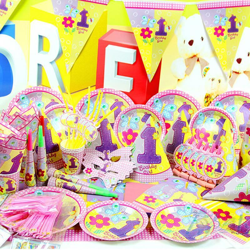 Best New Luxury Kids 1st Birthday Decoration Set Cartoon Theme Party