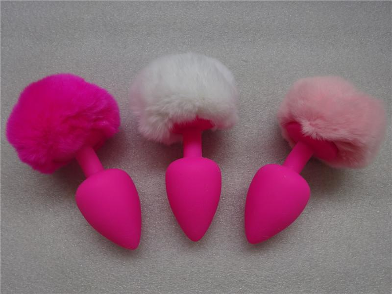 S M L Sexy Silicone Anal Plug Animal Fur fox tail Anus Balls Juguetes Eroticos Butt Sex Toy For Adult Game 2015 NEW