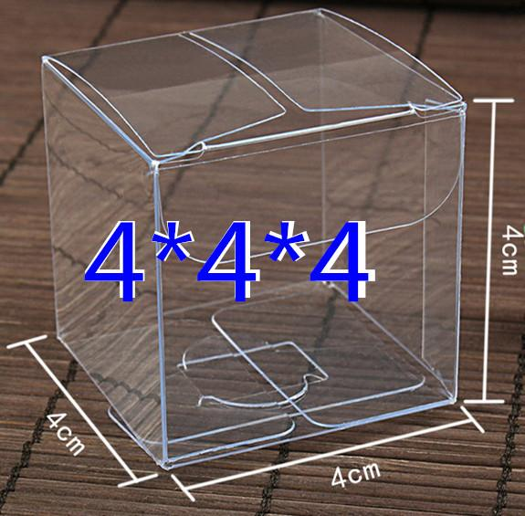 Wholesale 40x40x40mm Clear Pvc Box Package Box Plastic