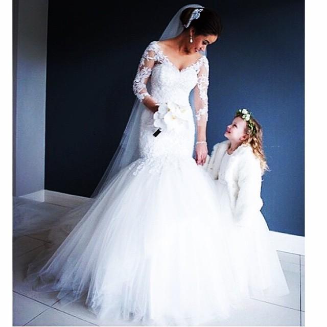 Vestido de noiva elegant 2021 sexig spets applique tulle kjol sjöjungfru brudklänning bröllopsklänningar brudklänningar