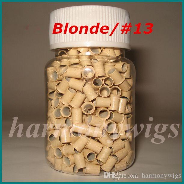 / bottle 4.0mmx3.6mmx6mm Micro cobre Anéis Links / Grânulos Para Extensões de Cabelo ferramentas 8 cores