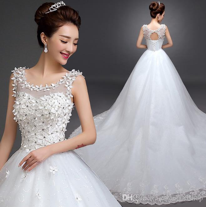 331d30bc89e Modest Wedding DressCharming Sweetheart Applique Lace Vintage Bridal ...