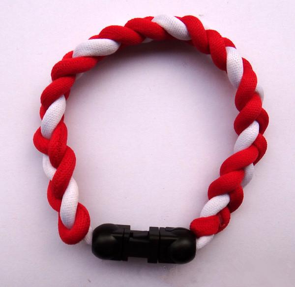 Germanium titanium 3 ropes bracelet tornado braided SPORTS football baseball new tornado necklace healthy Fashion body jewelry