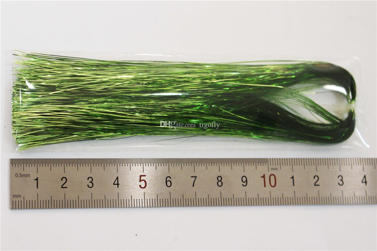 Tigofly 12 цветов 0,3 мм Flashabou мишура плоский майларовый кристалл вспышка форель трубка нахлыстом вязальные материалы
