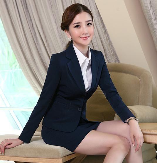 spring and autumn formal office uniform design women