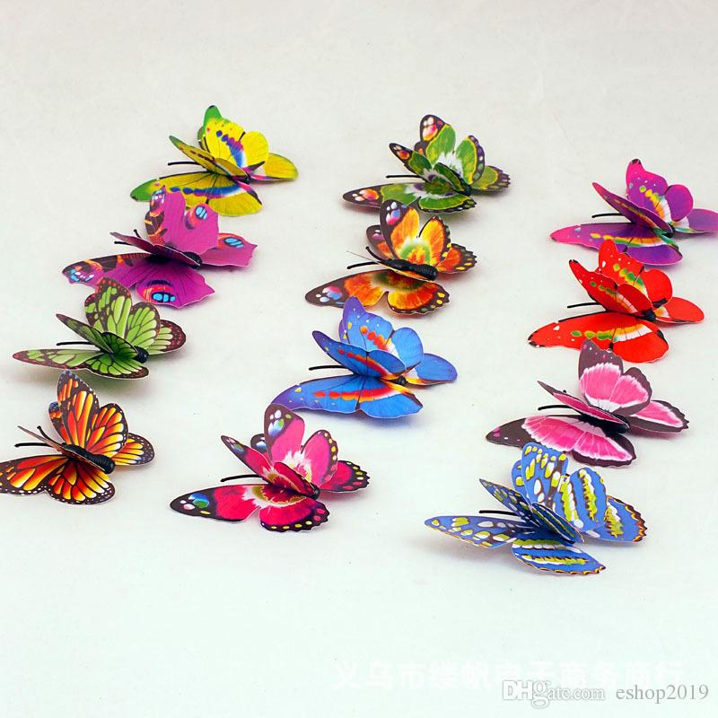 2015 Fridge Magnets Small Size Colorful Three-dimensional Simulation Butterfly Magnet Fridge Home Decoration
