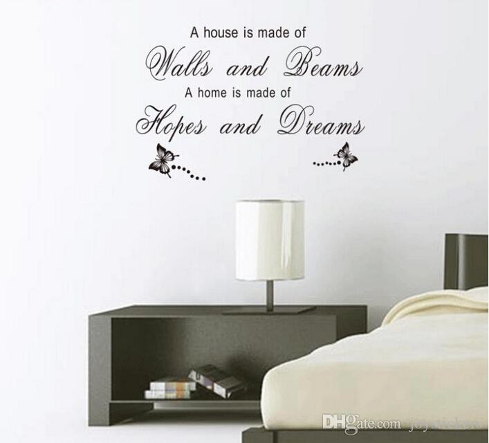 Hopes And Dreams Family Quote Wall Stickers Home Decorations Diy