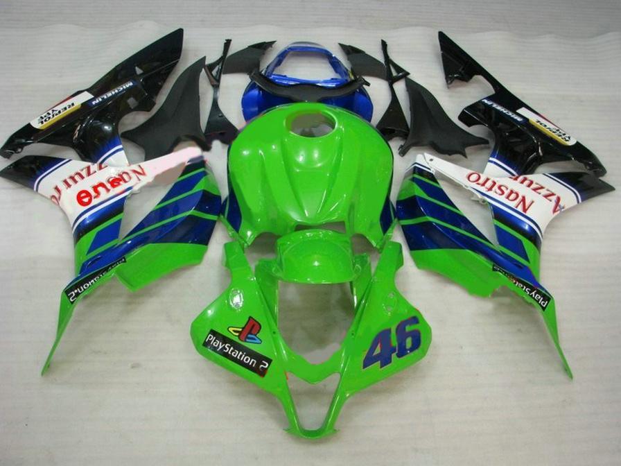 Customize motorcycle fairing kit for HONDA Injection molding CBR600RR 2007 2008 fairings CBR 600RR F5 07 08 black white green set KQ76