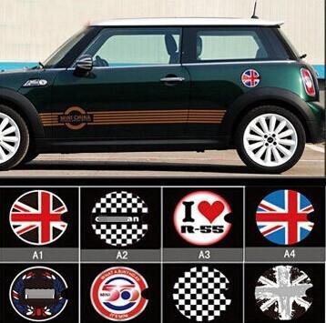Für Mini Cooper John Cooper Workds Tankdeckel Aufkleber Uk Flagge R56 Union Jack Checker Flagge Mini Emblem Tankdeckel Aufkleber