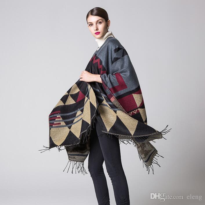 New brand design Bohemian tassel scarf pashmina women's winter warm Scarves shawls female longer thicken wild cape poncho women 97