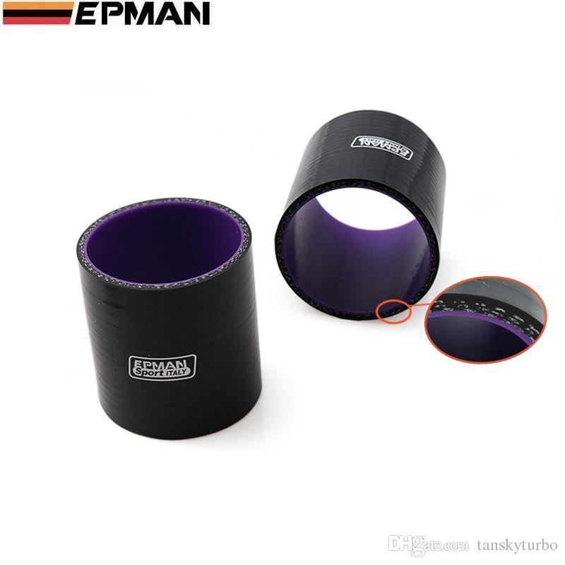 "Universal Black 2.5"" 63mm Polished Aluminum FMIC Intercooler Piping Kit DIY Pipe Length:600mm EP-LGTJ63-600"