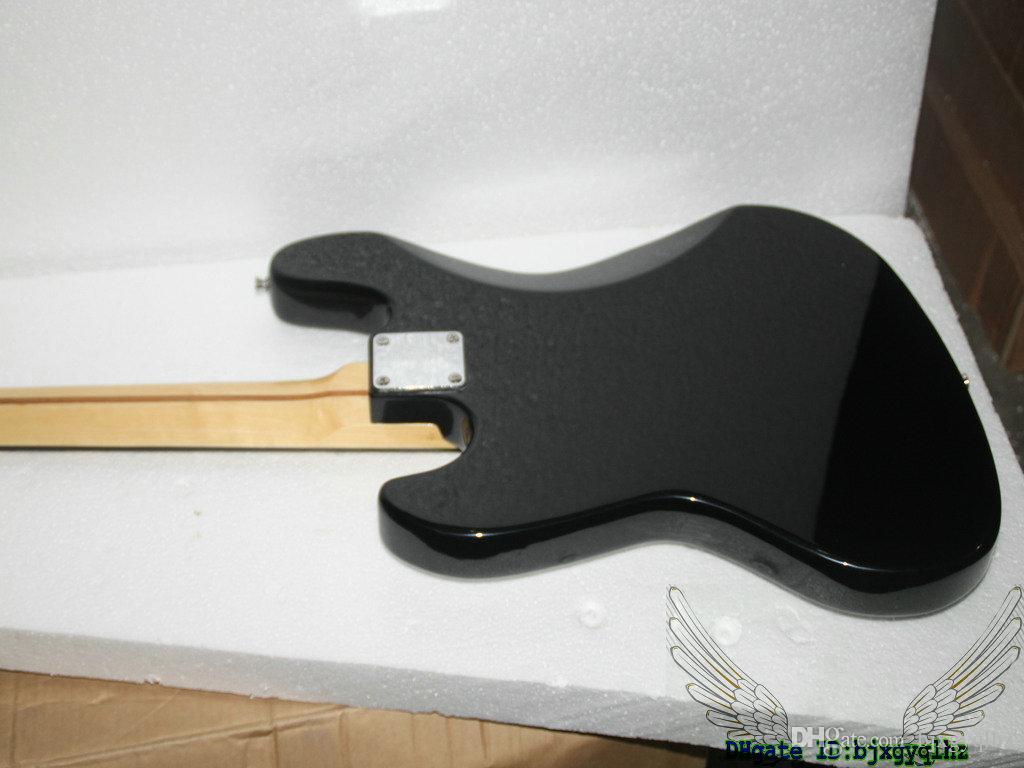 Instruments de musique noirs de haute qualité de touche d'érable de basse électrique de 4 cordes