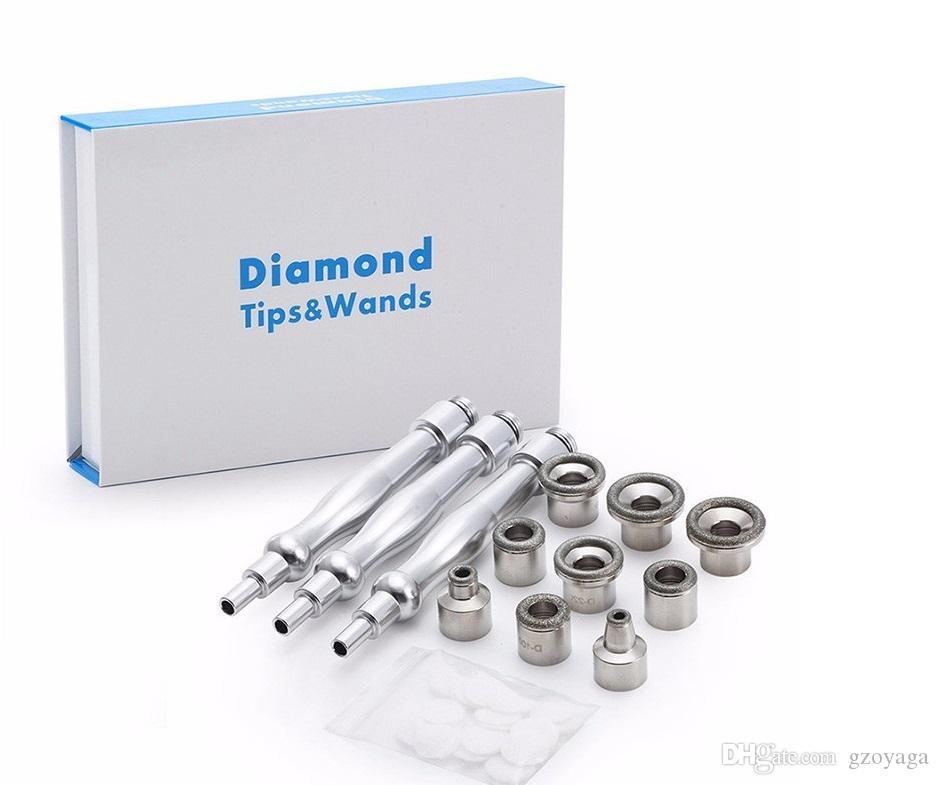 Best sale ! diamond tips Diamond Microdermabrasion Dermabrasion Facial Care Dead Skin Diamond Peeling Removal Wrinkle Massage Tool Kit