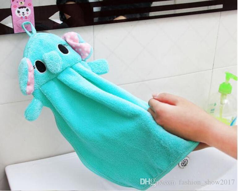 طفل الحضانة منشفة اليد طفل مناشف الحمام طفل لينة القطيفة الكرتون الحيوان مسح شنقا منشفة الاستحمام