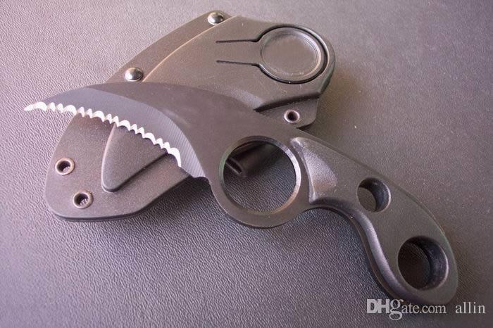 Ofertas especiais HRT garra 56hrc 440 lâmina fixa lâmina faca de caça ao ar livre acampamento utilitário favoritos facas com abs k bainha