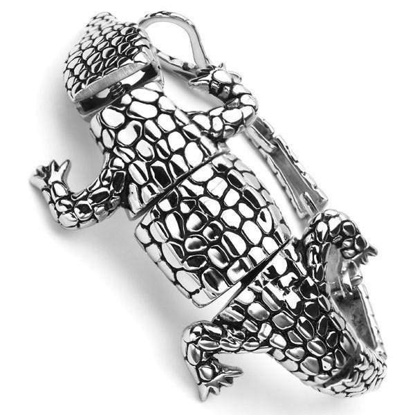 NEWEST Heavy Motorcycle Biker Men Bracelet/Bangle 316l Stainless Steel Scorpion Lizard Lacertian Lguana Jewelry FOR MEN PARTY