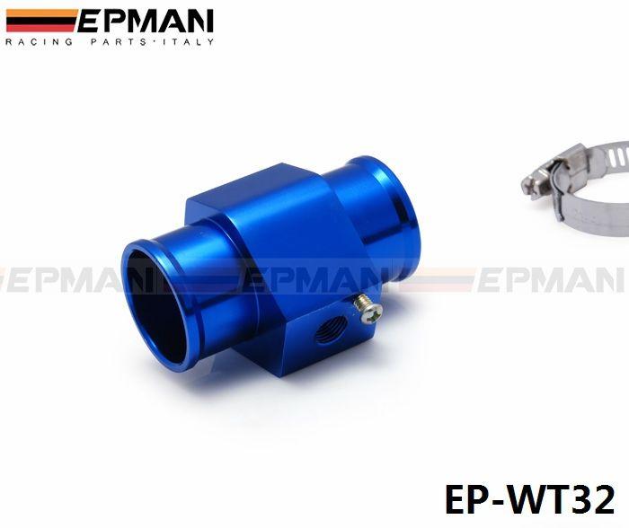 EPMAN  -  JDMレーシング32mmブルーウォータークーラント温度センサ水温ゲージアダプタ1.25