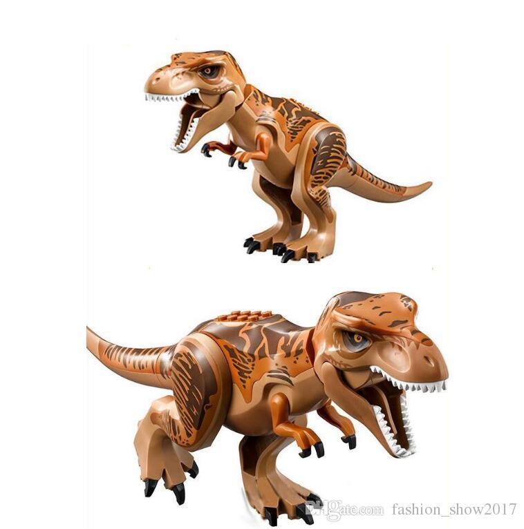 Blok Bulmaca Tuğlalar Dinozorların Dinozorlar Çocuk Hediye Çocuklar Oyuncak Yapı Taşları Bebek Eğitim Oyuncak Şekil