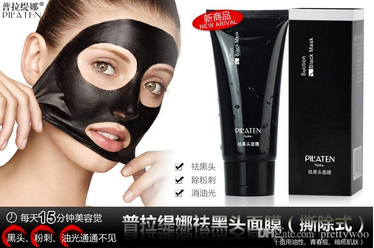 2015 HOT PILATEN Blackhead Remover Deep Cleansing Purifying Peel Acne Treatment Mud Black Mud Face Mask by DHL