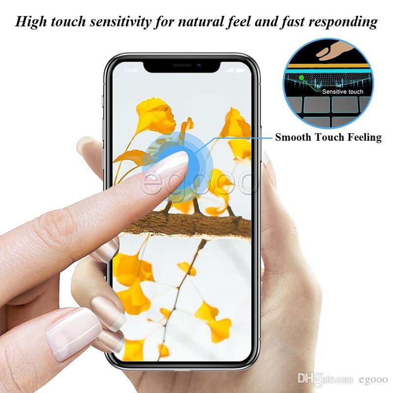 Privacidade temperado vidro anti-spy peeping protetor de tela para iphone x xr xs max 8 7 6 s plus com pacote de varejo