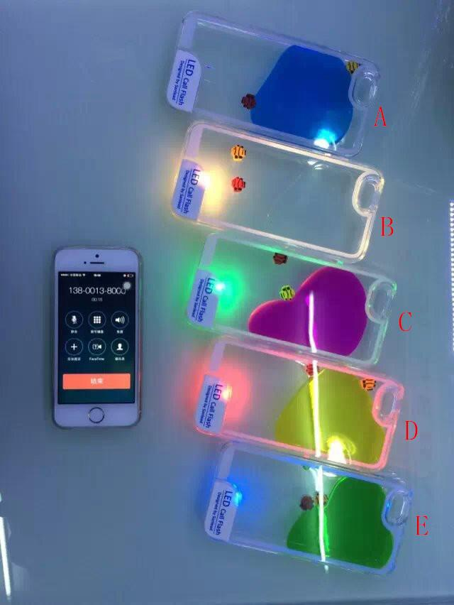 Iphone 6 6 Plus 5s 5 6s 6s Plus Case Liquid Flash Led