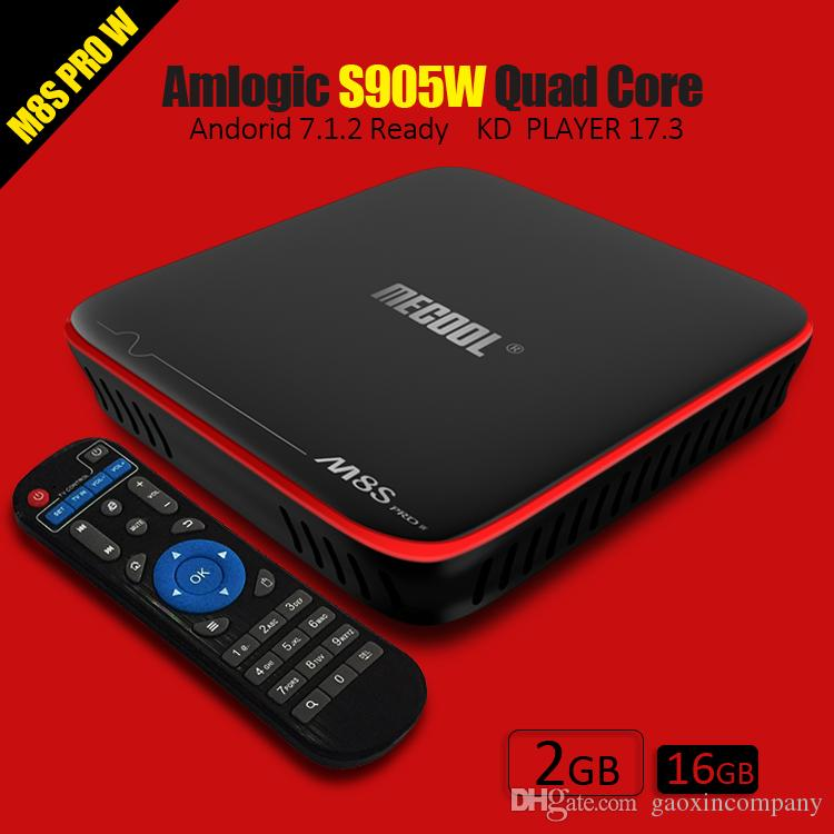 Mecool M8S Pro 2GB 16GB Android 7.1 TV Box Amlogic S905W Quad Core STB tv boxes Player 17.3 4K streaming player bet mag
