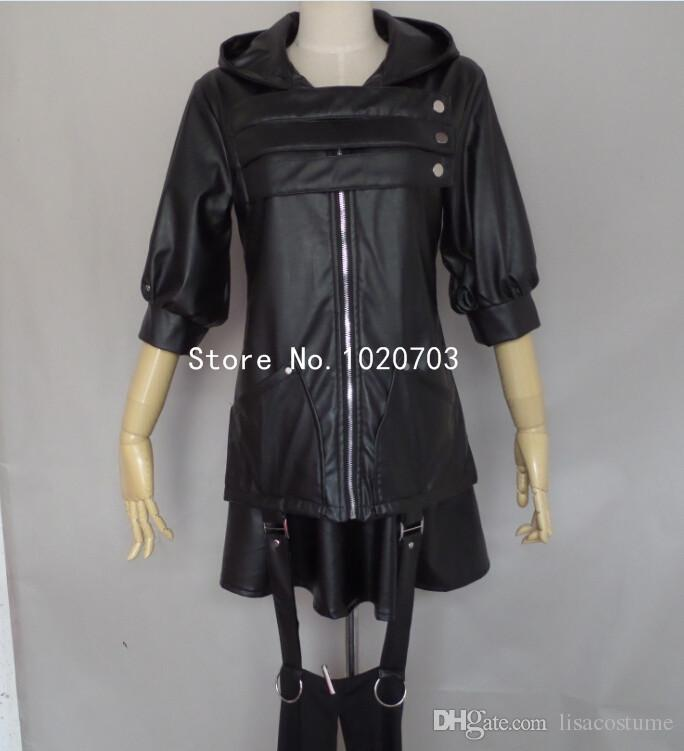 Yeni Tokyo Ghoul Touka Kirishima Siyah dövüş giysi Cosplay Kostüm f008