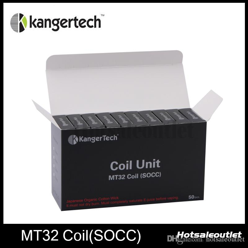 Kanger Coil Unit MT32 Coil SOCC Coils With Janpanese Organic Cotton Wick 100% Authentic New Arrival