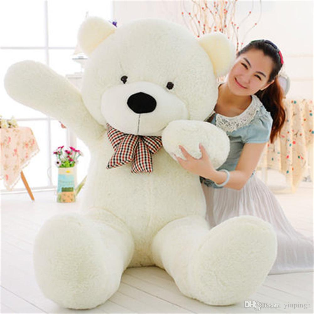 EMS Giant Teddy Bear Dolls Toy 160cm 180cm 200cm Big Bears Plush Toys Each Feast To Friend Favorite Gift Child's Gift Shop
