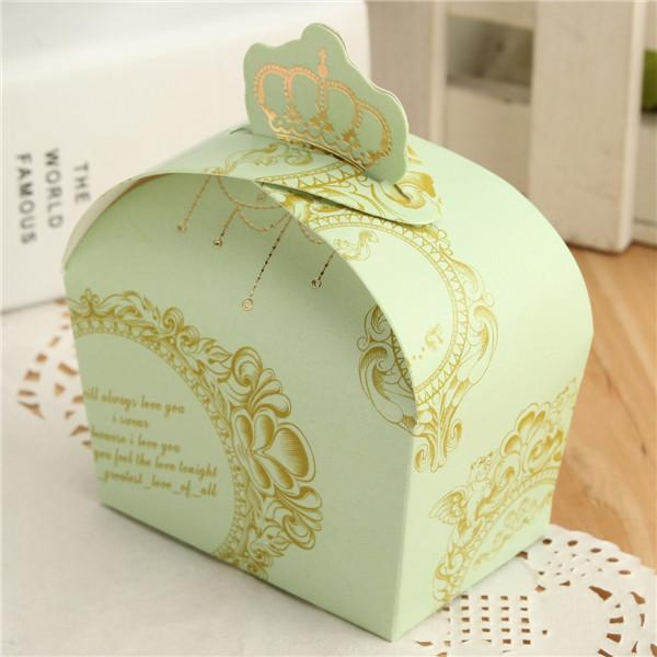Imperial Crown Pattern Dessert /Candy /Cake Box Wedding Favor ...