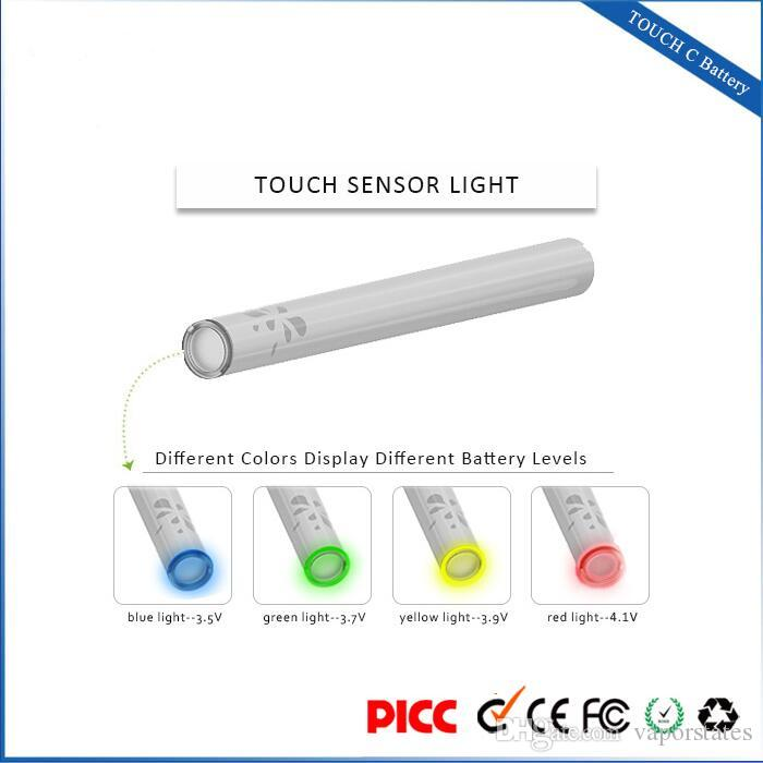 e-cigarette battery small 280mah bud touch rohs vape pen 4 steps adjustable voltage USB quick charger China wholesale Best quality